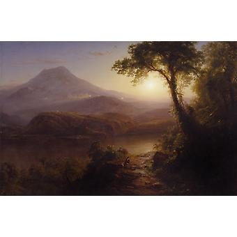 Tropical Scenery, Frederic e. Church, 40x60cm with tray