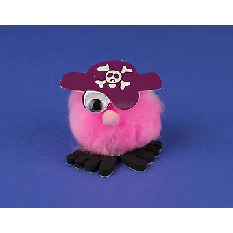 Purple Pirate littlecraftybug Craft Kit for 10 Kids | Skull & Crossbones Crafts