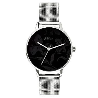 s.Oliver women's watch wristwatch stainless steel SO-3640-MQ