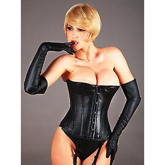 Killer Corsets Women's Stunning Corset in Victorian Design Leather Black