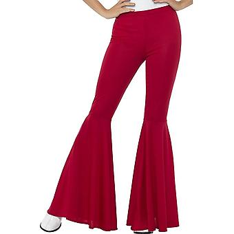 Flared Trousers, Ladies, Red