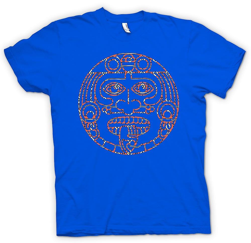 Mens t-shirt-Aztec lingua tribale del tatuaggio