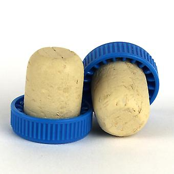 Plastic topped corks Blue bag of 100