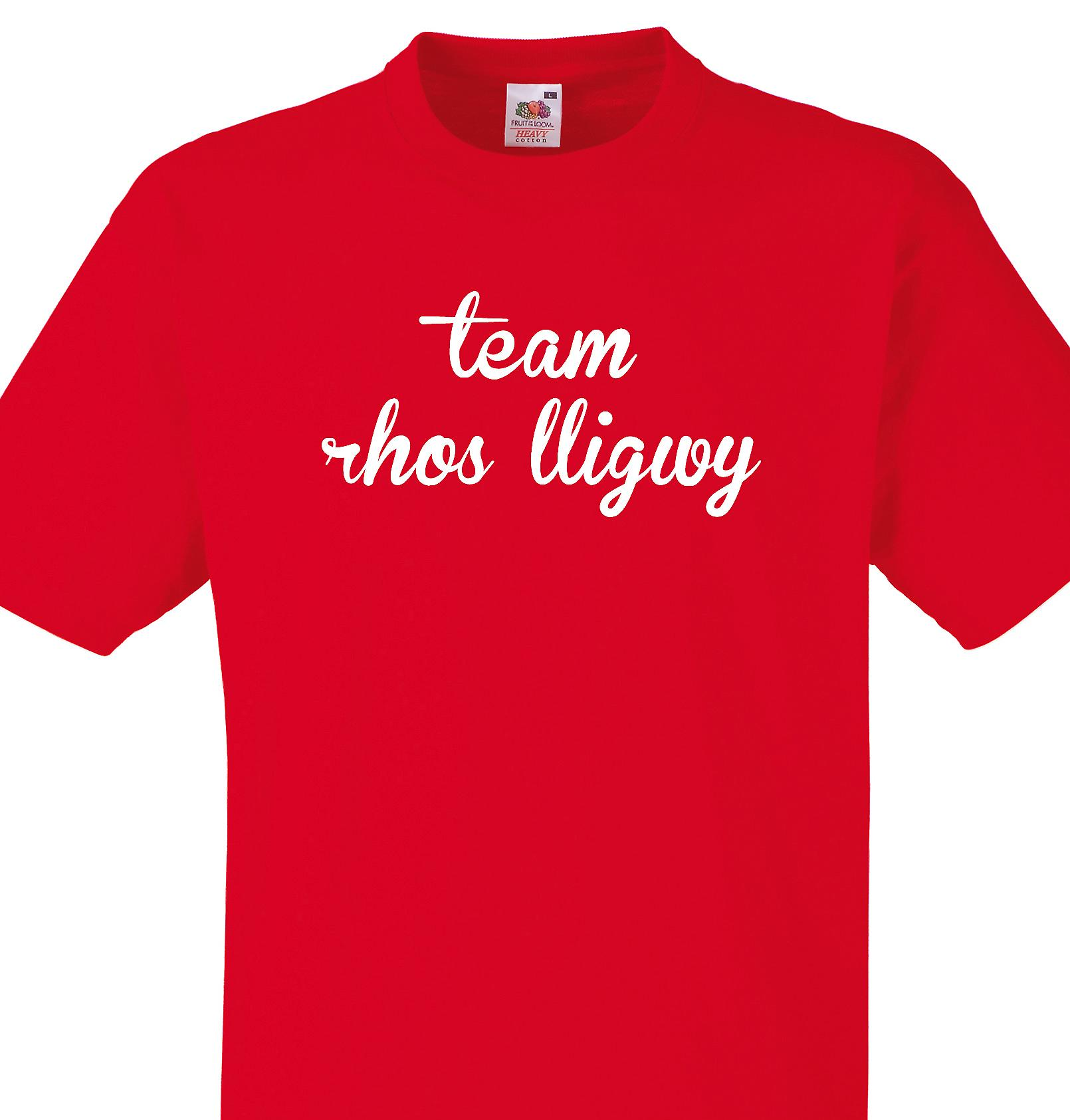 Team Rhos lligwy Red T shirt