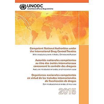 Behöriga nationella myndigheter enligt internationella drogen styra fördragen 2015