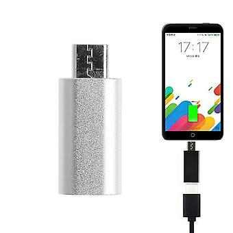 USB Type C Female naar Micro USB Male Adapter - Zilver