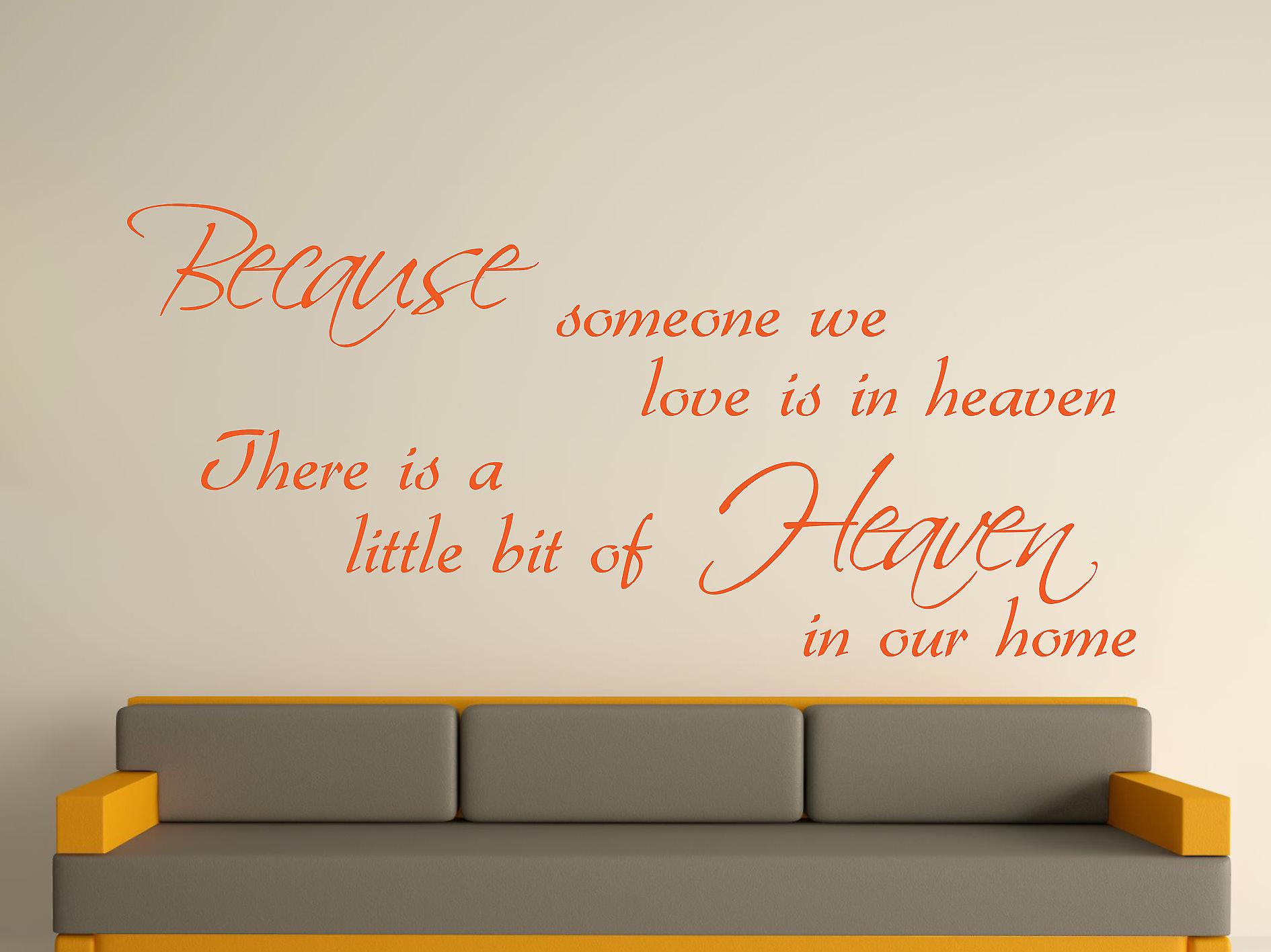 Because Someone Wall Art Sticker - Orange