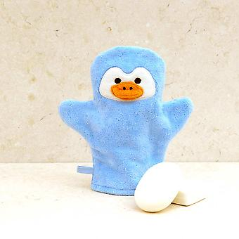 Perky Penguin bath mitt