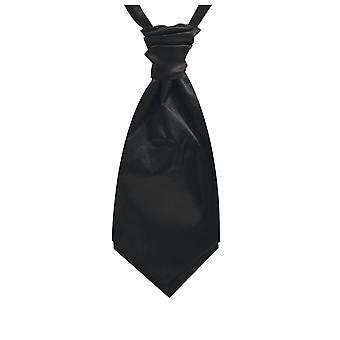 Dobell pojkar svart Satin Cravat pre bundna