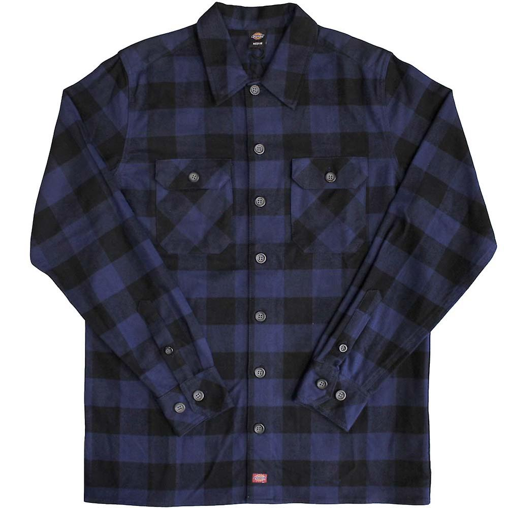 Dickies Sanderson Mens Regular Long Sleeve Shirt Classic Navy