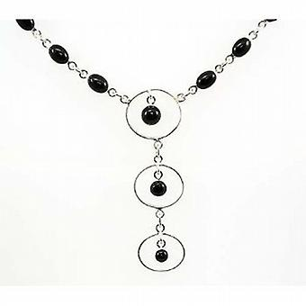 Toc Sterling Silver Black Onyx Drop Collarette Necklace 16 Inch