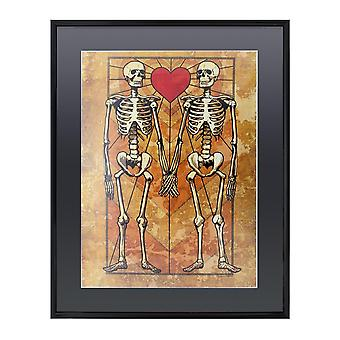 Grindstore Eternal Love Gloss Black Framed Poster