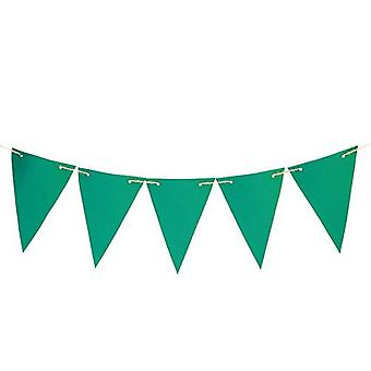 Gardenista® Green 10ft Water Resistant Fabric Bunting
