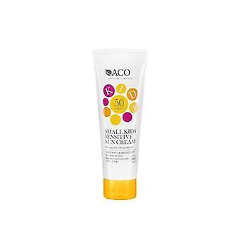 ACO Kids Small Sensitive Sun Cream SPF 50 125ml