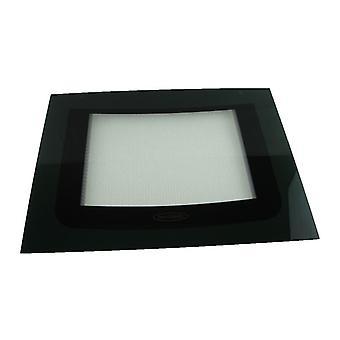 Indesit Main ovnen ytterdøren Glass med grønne detaljer