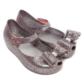 Melissa zapatos mini Ultragirl Bow 19 zapato, multi Glitter