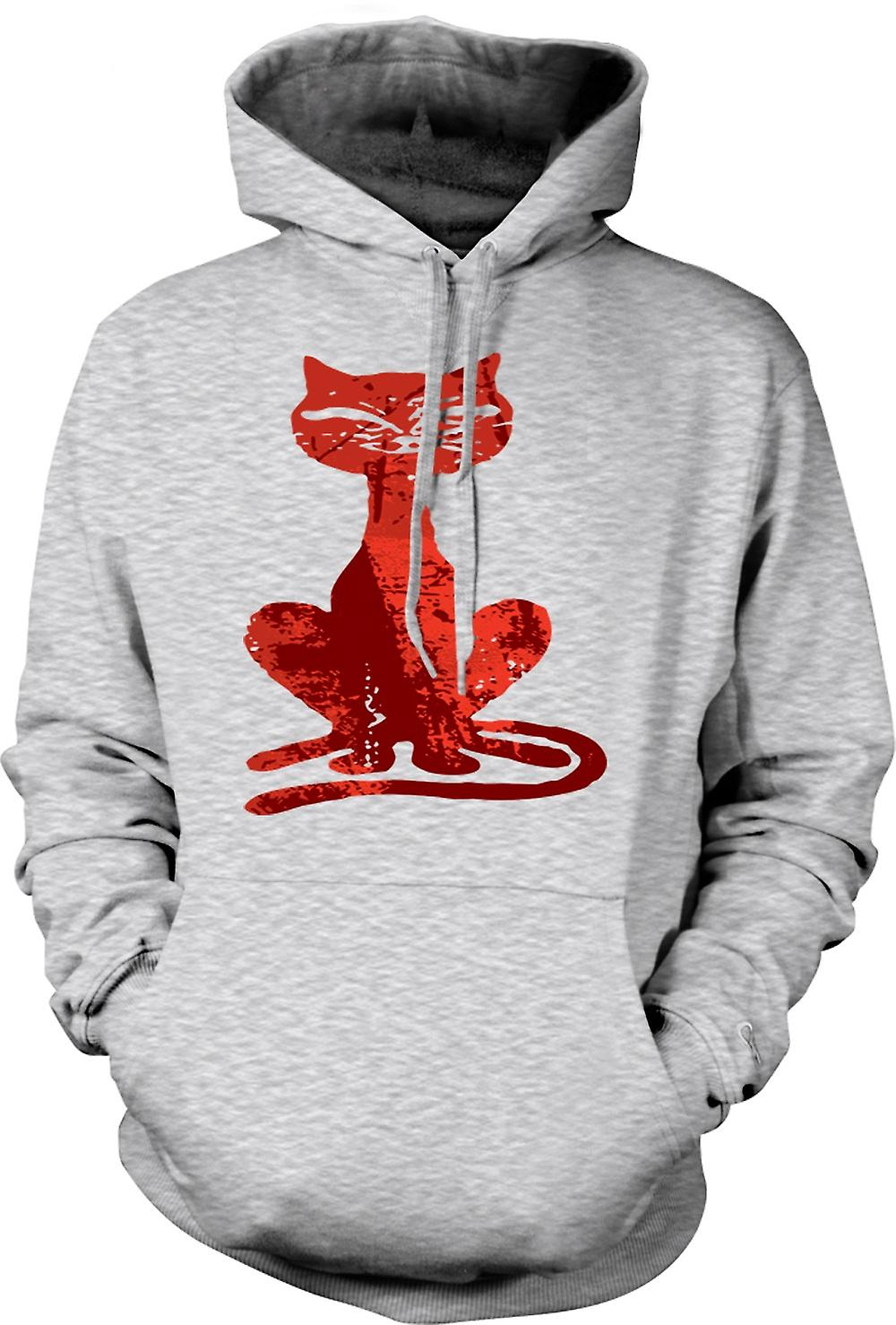 Mens Hoodie - Witches Cat - Halloween - Funny