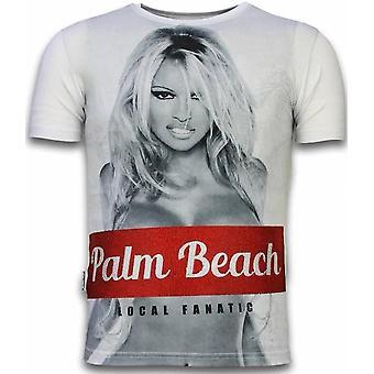 Palm Beach Pamela-Digital Rhinestone T-shirt-White
