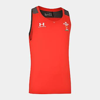 Under Armour Wales WRU 2019/20 Players Rugby Training Singlet