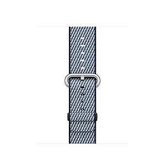 Apple 38mm check woven strap midnight blue