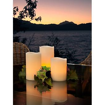 Wellindal Set Of 3 Led Wax Candles (Lighting , Interior Lighting , Decorative lights)