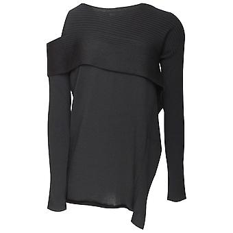 Crea Concept Long Sleeve Single Cold Shoulder Jumper