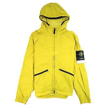 Stone Island 41030 Garment Dyed Crinkle Reps Ny Jacket Yellow V0038