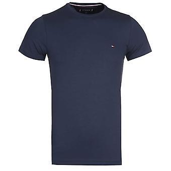 Tommy Hilfiger Navy Core Stretch Cotton Slim Fit Crew Neck T-Shirt
