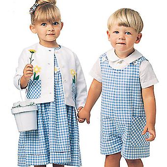 Toddlers' Rompers In 2 Lengths, Dress, Jacket And Shirt  Cb 1  2  3 Pattern M6304  Cb0
