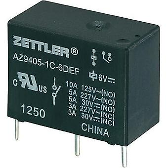 PCB relays 24 Vdc 10 A 1 change-over Zettler Electronics