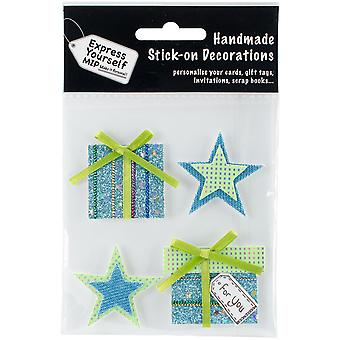 Express Yourself MIP 3-d-Sticker-Stars & Geschenke DIYT132