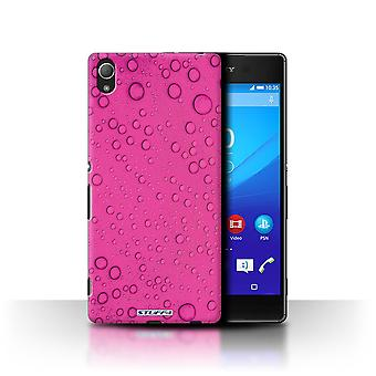 STUFF4 Case/Cover voor Sony Xperia Z3 +/ Plus/roze/waterdruppels
