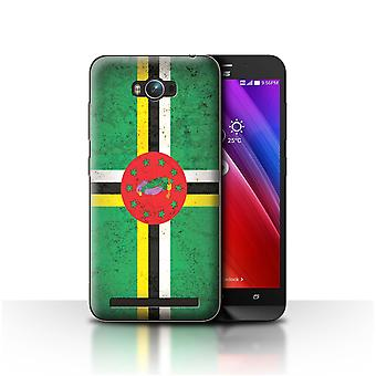 STUFF4 Case/Cover for Asus Zenfone Max ZC550KL/Dominica/Dominican/Americas Flag