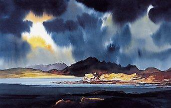 Peter McDermott print - Dunseath Castle Awaits The Storm