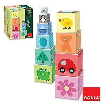 Goula Stackable Cubes (Toys , Preschool , Babies , Stackable Toys)