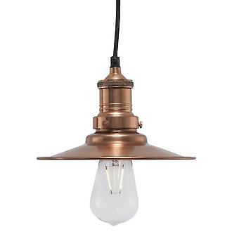Small Tribeca Vintage Copper Pendant Light 8