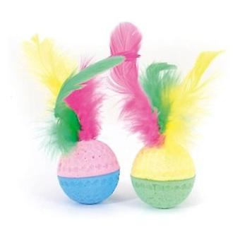 Camon Ball Sponge With Feather 2 Und. (Chiens , Jouets Et Sport , Balles)