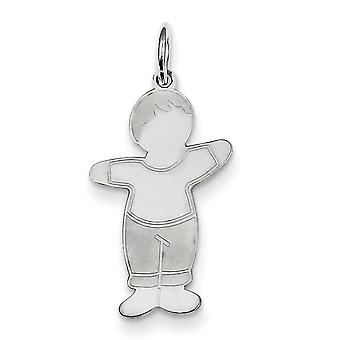 Plata esterlina Mommas Boy abrazo encanto -.6 gramos