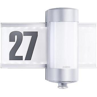 Illuminated house number (+ motion detector) HV halogen G9 80 W Steinel L 270 S 647810 Aluminium