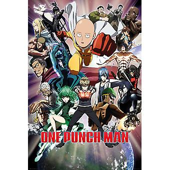 Een Punch Man Collage Maxi Poster