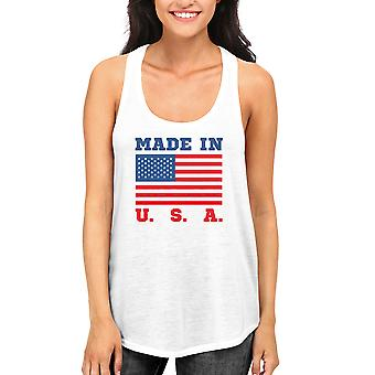 Made In USA Tank Top for July 4th Celebration American Flag RacerBack Tanks