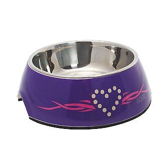 Rogz 2in1 Bowl Bubble Purple Heart 350ml