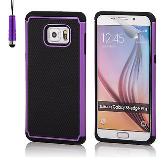 Shock proof case for Samsung Galaxy S6 Edge+ (S6 Edge Plus) including stylus - Purple