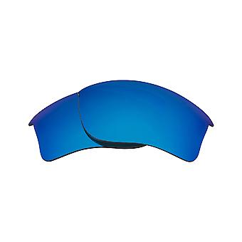 New SEEK Replacement Lenses for Oakley FLAK JACKET XLJ Asian Fit Blue Mirror