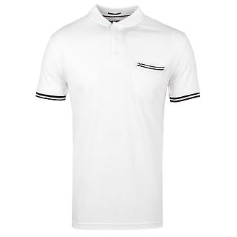 Weekend Offender Kir Royal White Twin Tipped Polo Shirt