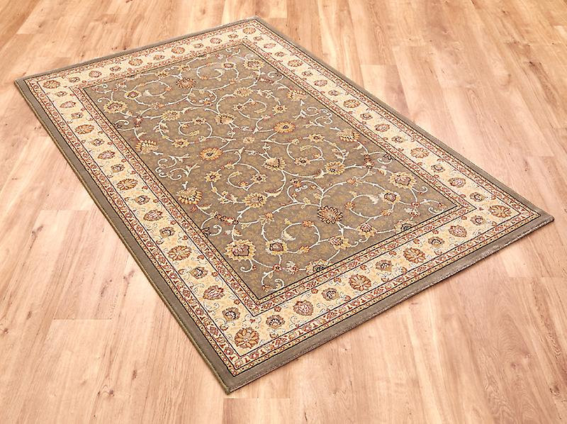 Noble Art 6529-491 Grey-green centre with gold-ivory border and viscose accents  Rectangle Rugs Traditional Rugs