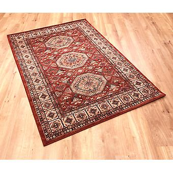 Kashqai 4317-300 Shades of russet, beige, gold and green Rectangle Rugs Traditional Rugs