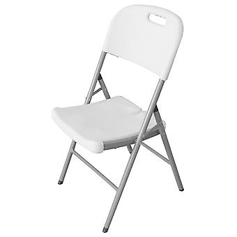 Ldk Folding Chair Hdpe White 46X50X84 Cm (Garden , Furniture and accessories , Chairs)