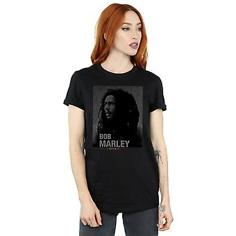 Bob Marley Women's Roots Rock Reggae Boyfriend Fit T-Shirt