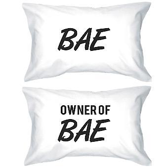 BAE en eigenaar van Bae grappig paar kussenslopen geschenk voor de pasgetrouwden